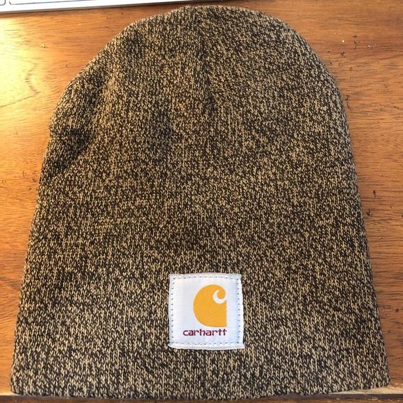 Carhartt Knit Hat A205 Dark Brown/Sandstone OS new